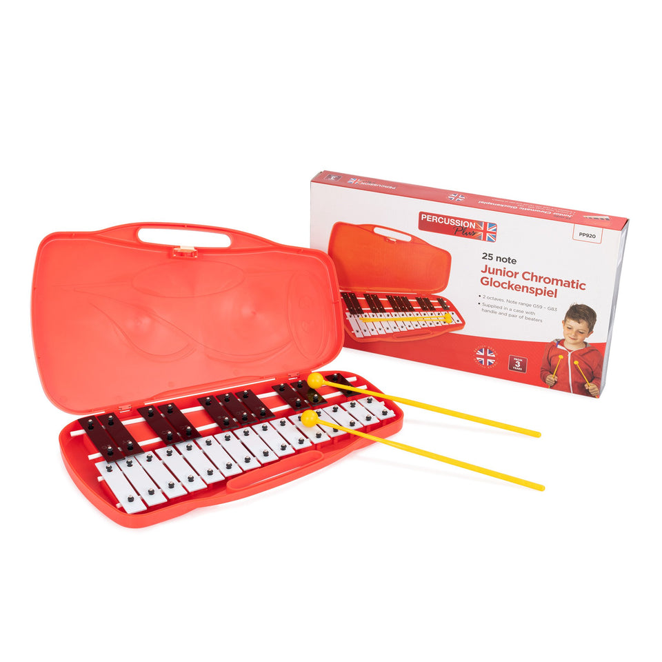 25 note chromatic glockenspiel with case & beaters