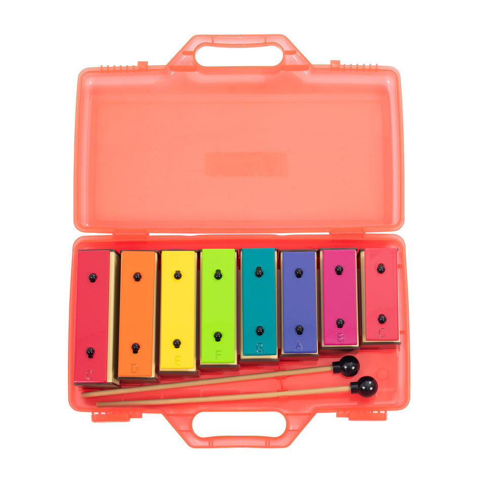 Set of 8 chime bars with case