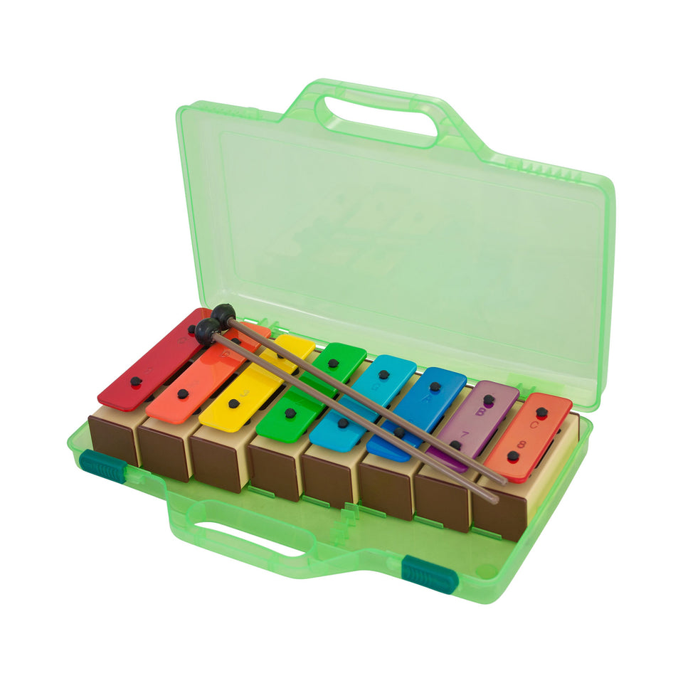 Percussion Plus PP944 colourful chime bars in clear case with beaters