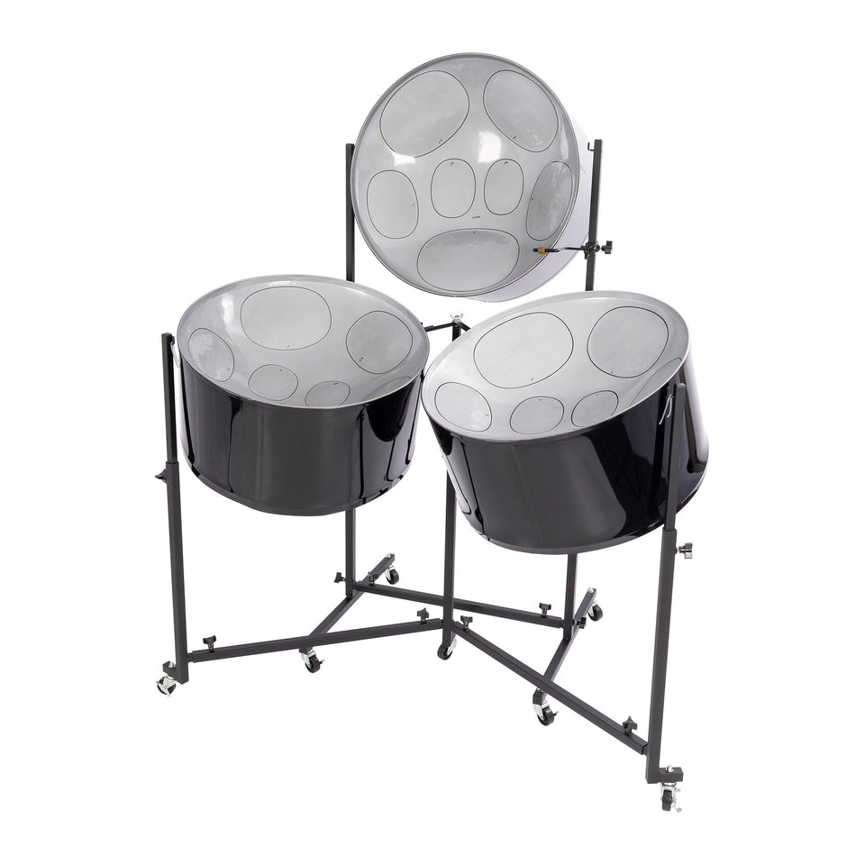 Percussion Plus Import Series triple cello steel pans, painted finish