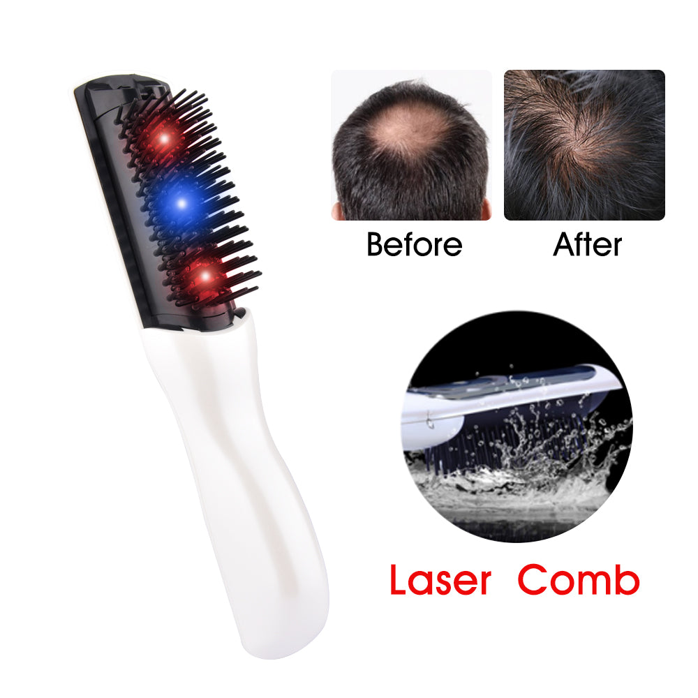 Hair Growth Care Electric Wireless Infrared Ray Massage Comb Hair follicle Stimulate Anti Dense Anti Hair-loss Head Massager