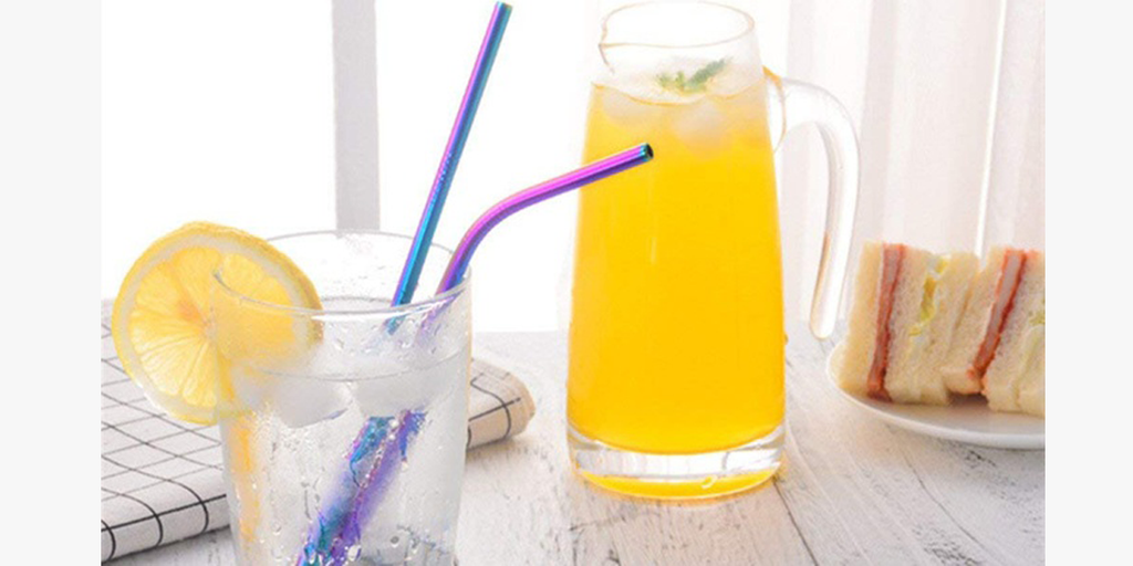 Stainless Steel Straight or Bent Straws (4- or 8-Pack) - BFCM