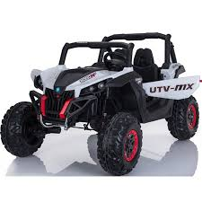Mini Moto UTV 4x4 12v White (2.4ghz RC)