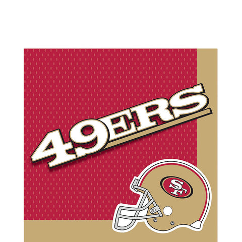 San Francisco 49ers Deluxe Birthday pack for 18 Guests