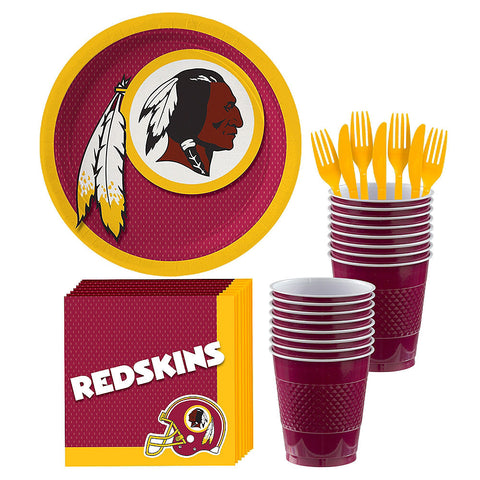 Washington Redskins Deluxe Birthday pack for 18 Guests