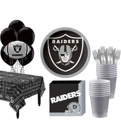 Super Oakland Raiders Deluxe Birthday pack for 18 Guests