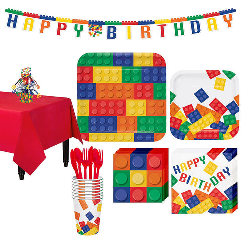 Building Blocks Deluxe Birthday pack for8 Guests