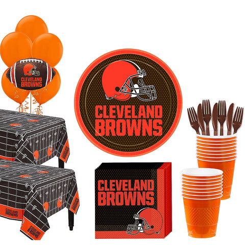 Super Cleveland Browns Deluxe Birthday pack for 36 Guests