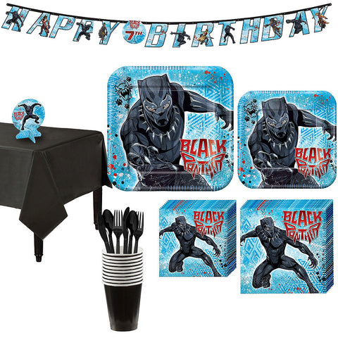Black Panther Deluxe Boy's  Birthday pack for 8 Guests