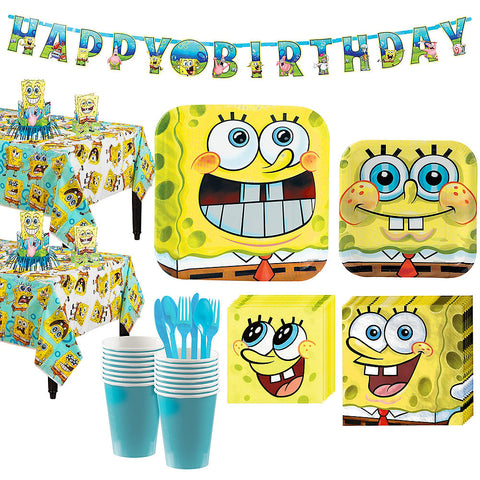 SpongeBob Deluxe Birthday pack for 16 Guests