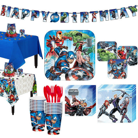 Avengers Deluxe Birthday pack for 16 Guests