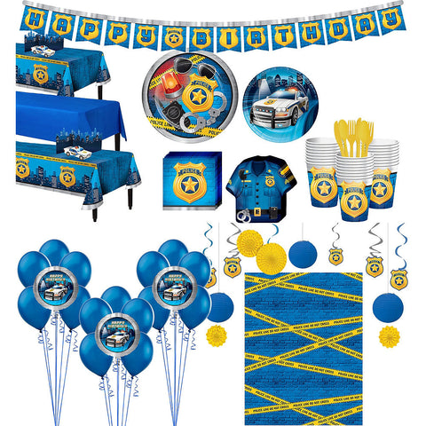 Police Ultimate Deluxe Birthday pack for 24 Guests