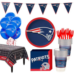 Super New England Patriots Deluxe Birthday pack for 18 Guests