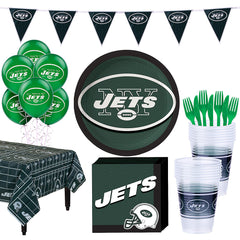 Super New York Jets Deluxe Birthday pack for 18 Guests