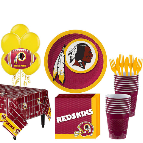 Super Washington Redskins Deluxe Birthday pack for 18 Guests
