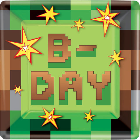 Pixelated Basic Deluxe Birthday pack for 8 Guests