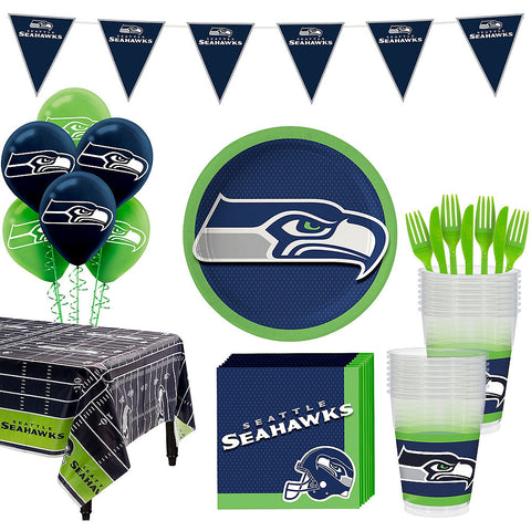 Super Seattle Seahawks Deluxe Birthday pack for 18 Guests