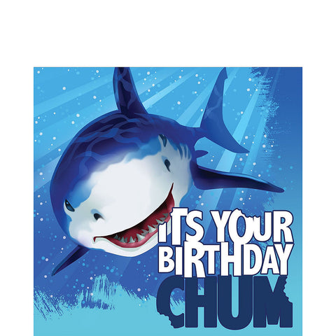 Shark Deluxe Birthday pack for 8 Guests