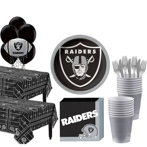 Super Oakland Raiders Deluxe Birthday pack for 36 Guests