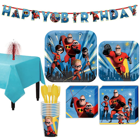 Incredibles 2 Party Kit for 8 Guests