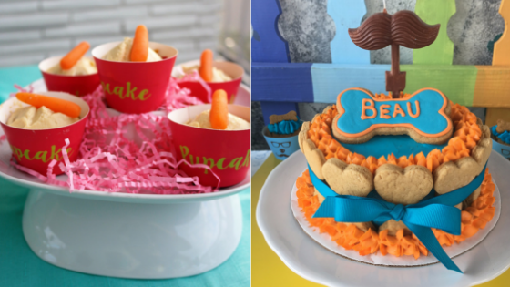 Cupcakes or Cake?  What to bring for your dogs Birthday or Gotcha day party!