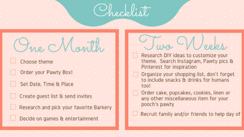 Dog Birthday Party Checklist
