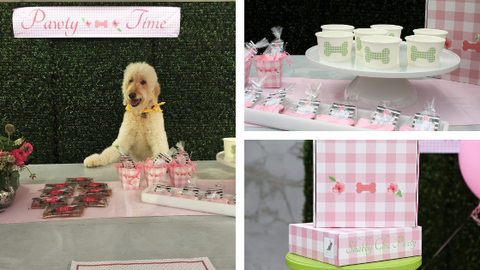 Pink Dog Birthday Party Decor
