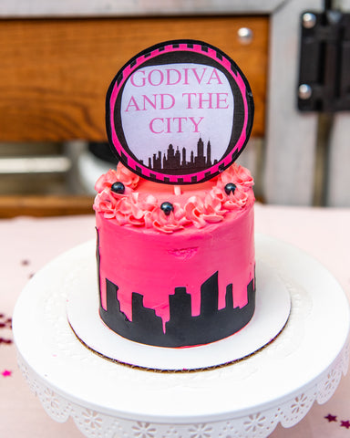 Sex and the city theme dog cake