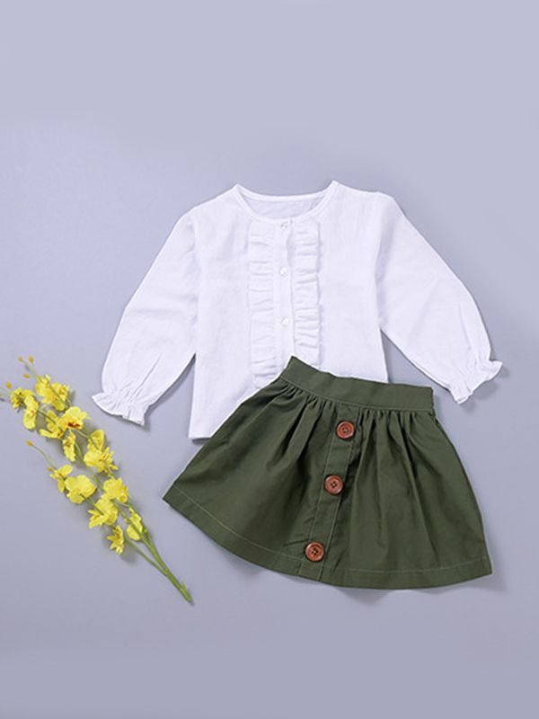 School Girl Blouse & Skirt Set
