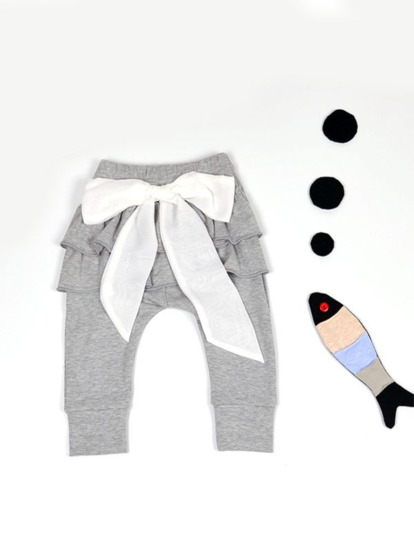 Grey Ruffle leggings