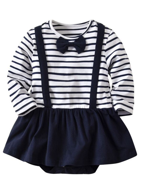 Classic Nautical Baby Romper