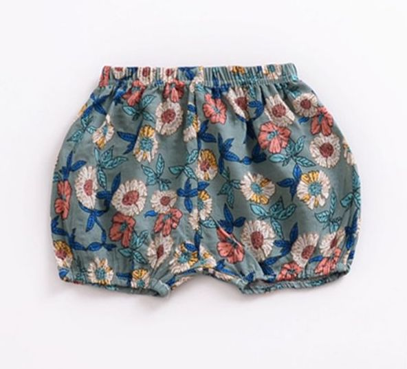 Olive Floral Bloomers