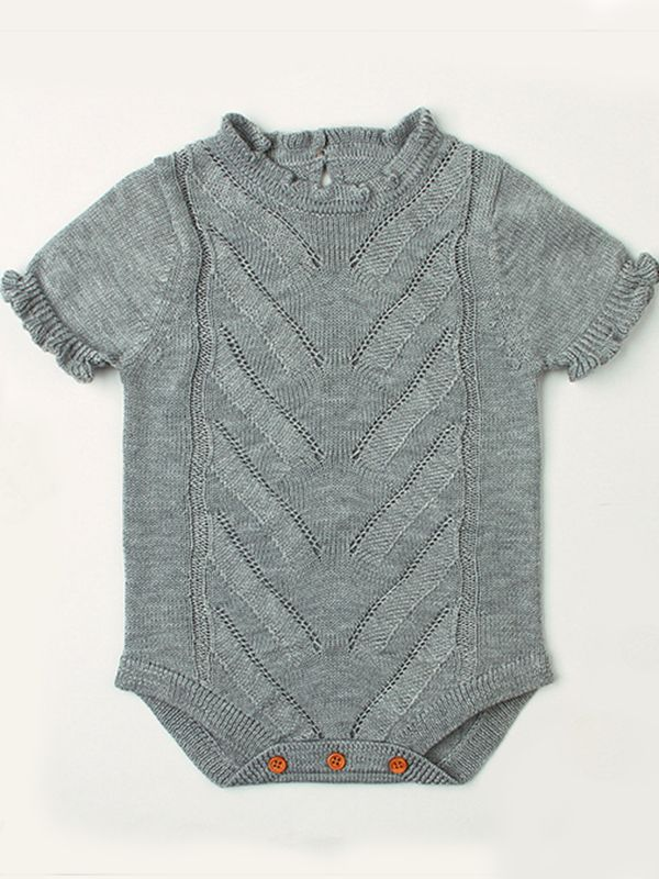 Grey Swirl Sweater Romper