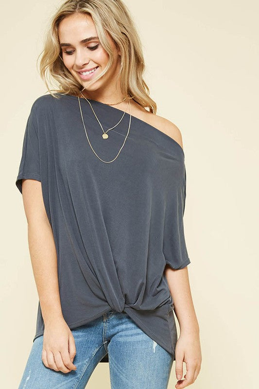 Sunset Charcoal Top
