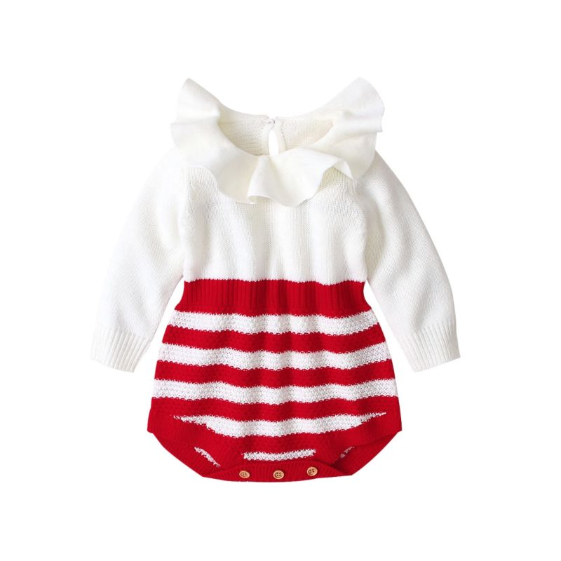 Candy Cane Sweater Romper
