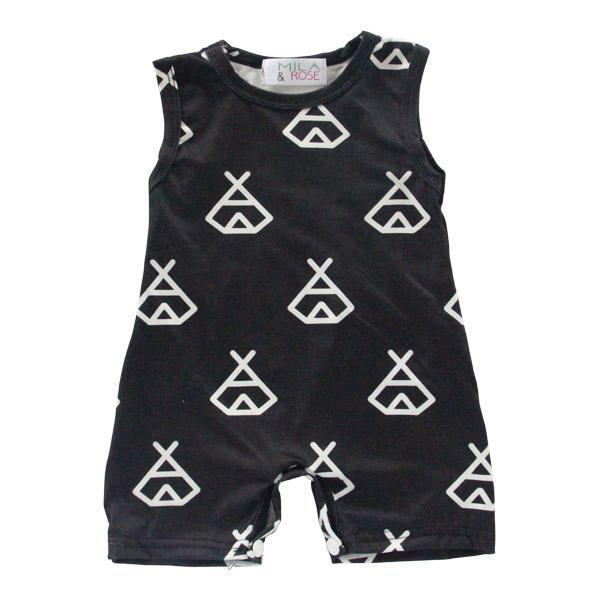Black Teepee Shorty One-Piece
