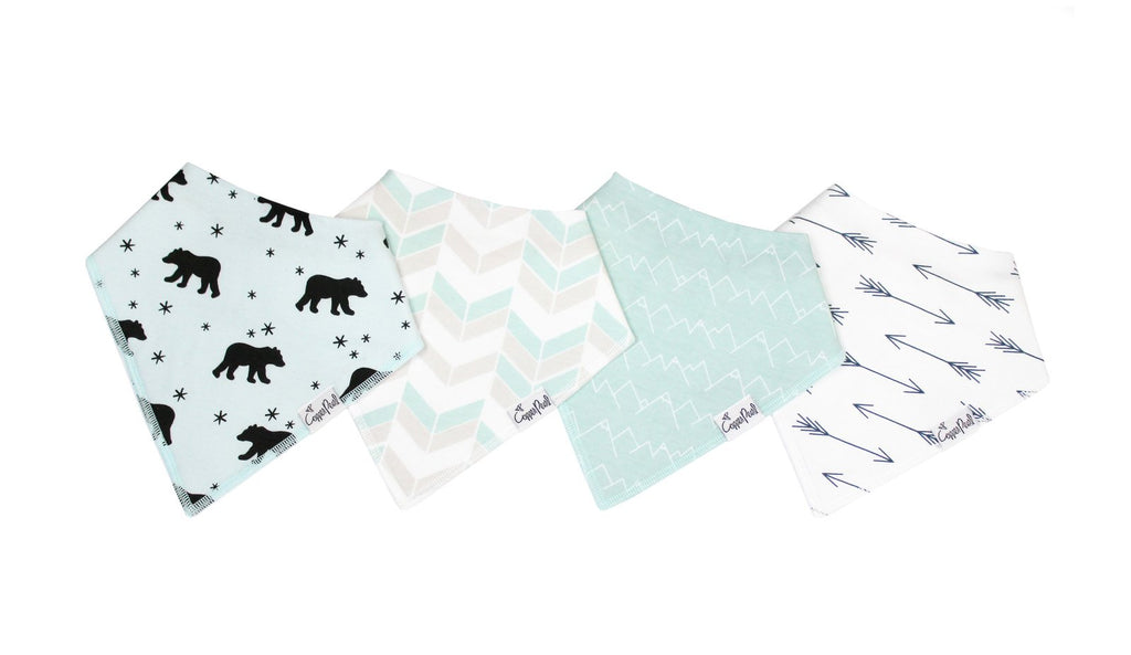 Archer Baby Bandana Bib Set (4-pack)