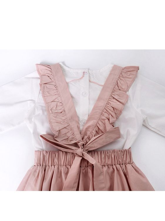 School Girl Pink Jumpsuit & Blouse
