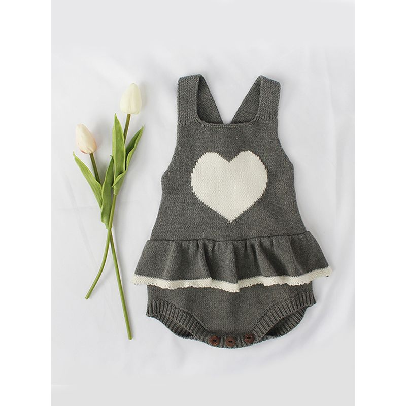 Grey Heart Romper