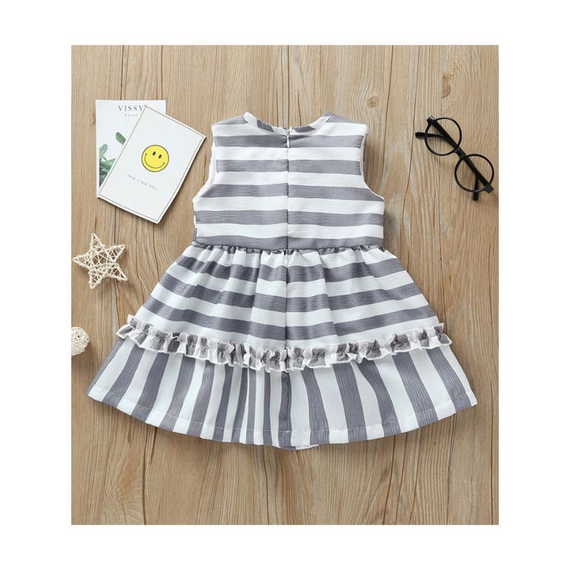 Striped Gray Dress