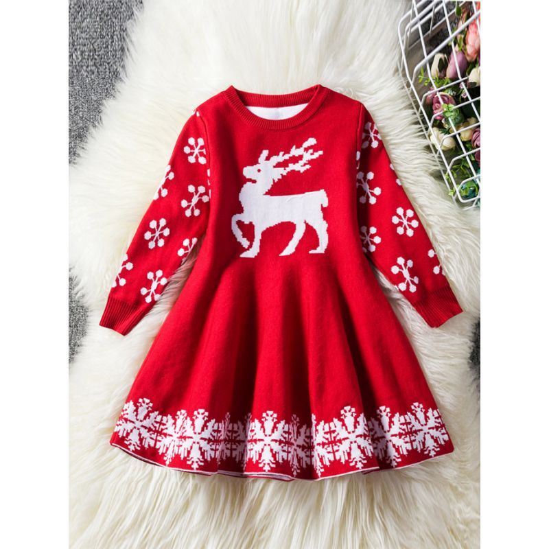 Red Snowflake Dress