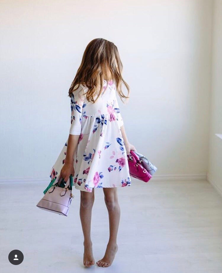 All Twirls Floral Dress