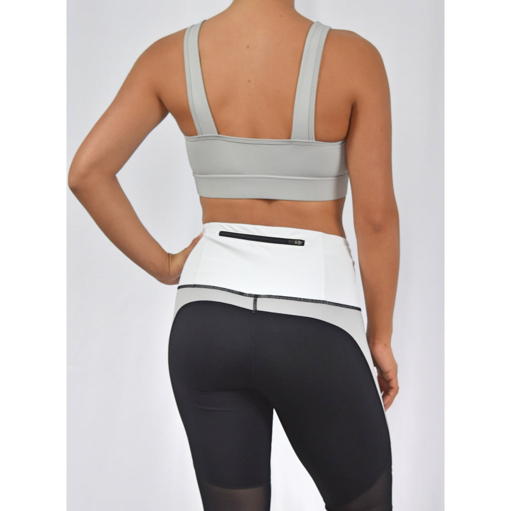 Light Grey Knot Sports Bra