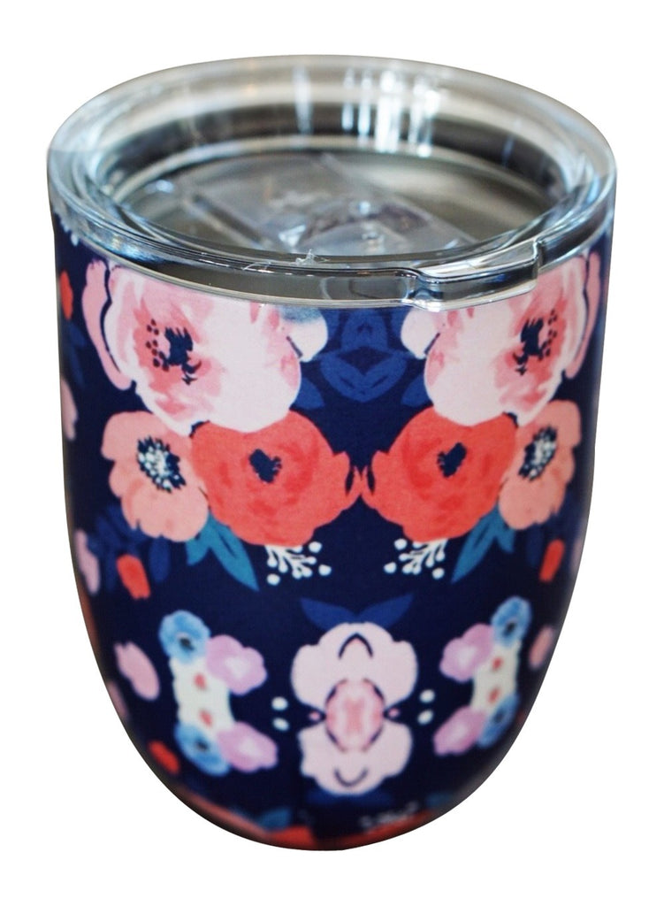 Fun Floral Cup Navy Rose