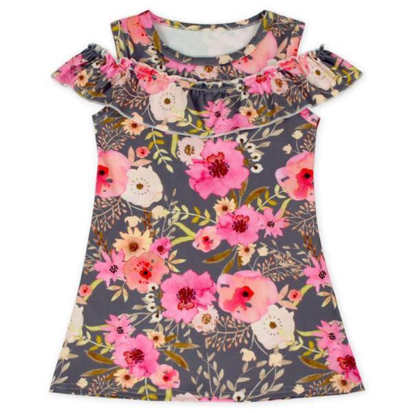 Flower Fields Cold Shoulder Dress