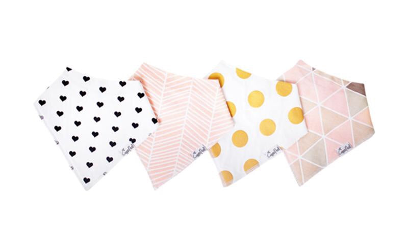 Blush Baby Bandana Bib Set (4-pack)