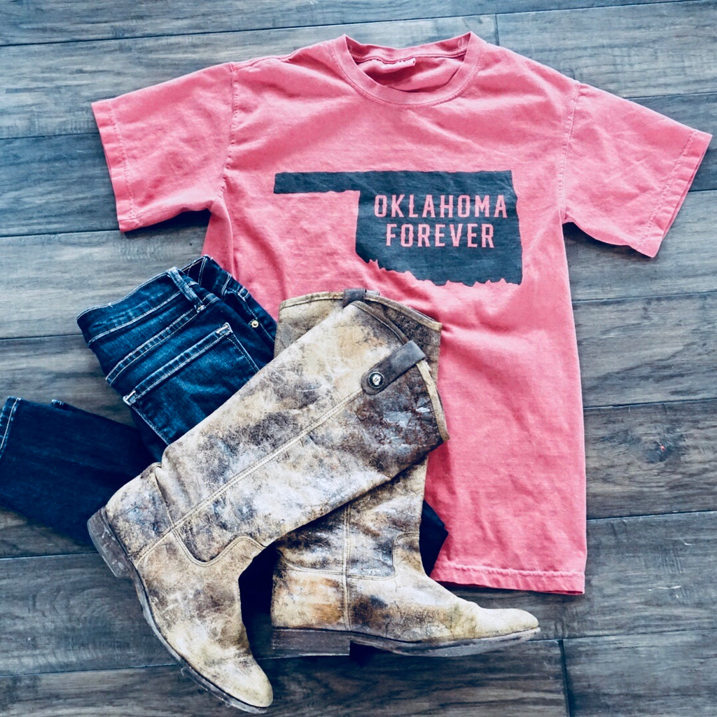 Oklahoma Forever Tee Faded Red