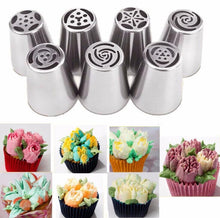 Load image into Gallery viewer, 24Pcs Russian Tulip stainless steel Nozzles birthday Cake Cupcake Decorating Icing Piping Nozzles Rose Flower Cream Pastry Tips - Kaya Kitchen