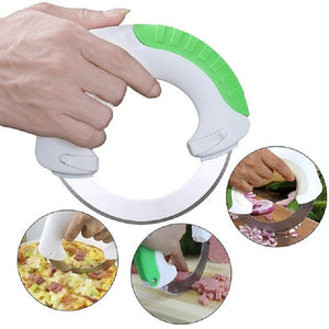 360 Circular Rolling Knife - Cut Meats, Veggies, & Fruits Like a Pro!