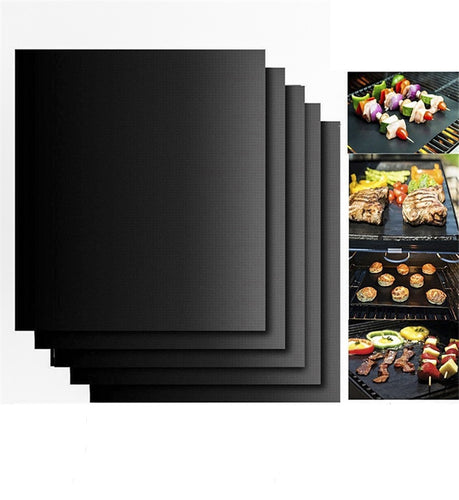 1PCS Non-stick Teflon bbq Grill Mat Barbecue Baking Heat Resistant Cooking Mat Outdoor - Kaya Kitchen